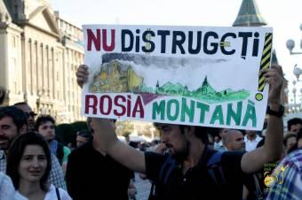 Ismét utcára vonultak a kolozsváriak a Verespatak-projekt ellen