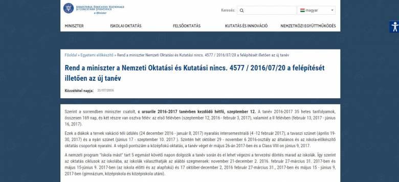 Megbukott magyar nyelvből az oktatási minisztérium