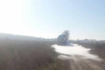 Több mint ötszáz személyt evakuáltak egy tartálykocsiból szivárgó gáz miatt Galac megyében