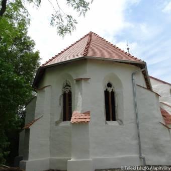 Tatárfej helyett Szent Kristóf-ábrázolás lehet a magyar támogatásból felújított küküllővári templom kuriózuma