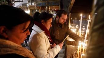 Idén szerényebben zajlott az éjféli mise Betlehemben