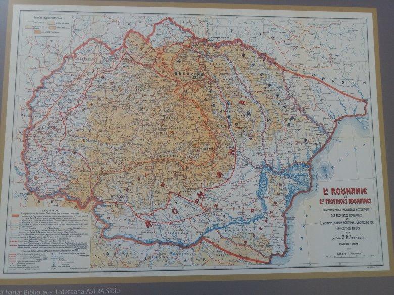 """""""Óriás-Románia"""" térképével emlékeznek a román centenáriumra Nagyváradon"""