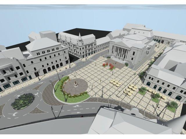 Megújul a nagyváradi Bémer tér – a színház előtti és mögötti terület is új arculatot kap a 20 millió lejes beruházásnak hála