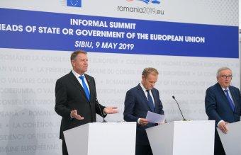 EU-csúcs Nagyszebenben: Jean-Claude Juncker szerint túlzás az Unió válságáról beszélni