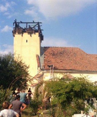 Leégett a bethlenszentmiklósi unitárius templom tornya