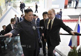 Vlagyimir Putyin a Koreai-félsziget problémáiról tárgyal Kim Dzsong Unnal Vlagyivosztokban