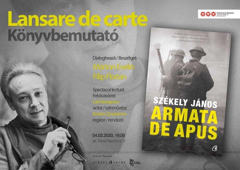 Székely János A nyugati hadtest című kisregényének román nyelvű fordítását mutatták be Bukarestben