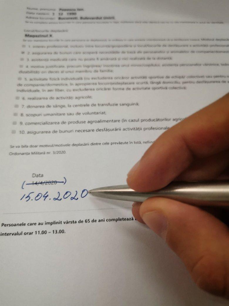 A dátum módosításával ismét felhasználható a saját felelősségre kiállított nyilatkozat