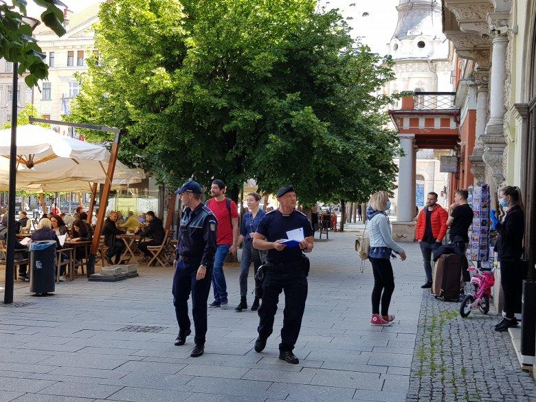 Rendőrök árgus tekintete követi a teraszok újranyitását Kolozsváron