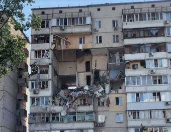 Hatalmas robbanás történt egy kijevi sokemeletes házban