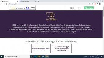 Magyarul is tájékoztatnak a szavazás mikéntjéről a civil fejlesztésű Vot România platformon