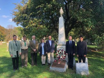 Felavatták Kossuth Emília megújult sírhelyét New Yorkban