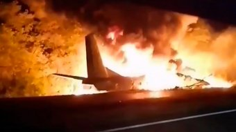 FRISSÍTVE – Lezuhant egy ukrán katonai szállítógép, több mint húszan meghaltak