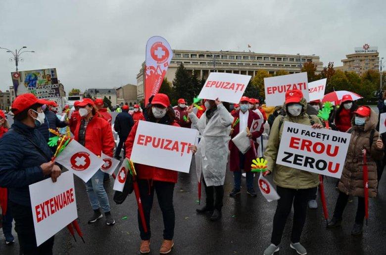 """Folytatódott a """"kimerültek"""" tiltakozása"""