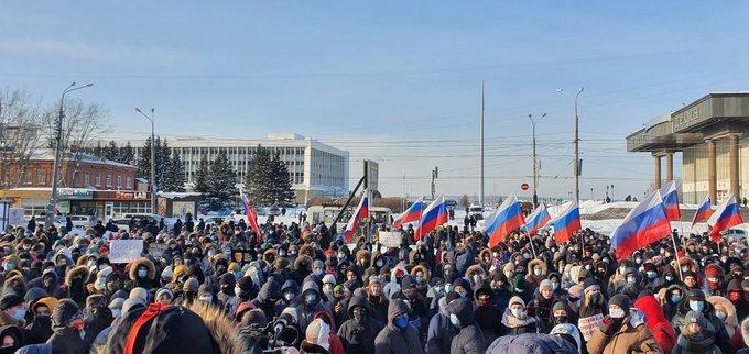 Dacolva a tilalommal, ezrek tüntettek a bebörtönzött Alekszej Navalnij mellett Moszkvában és több orosz városban