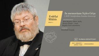 Szőcs Géza emlékére ad online koncertet a MÁV Szimfonikus Zenekar