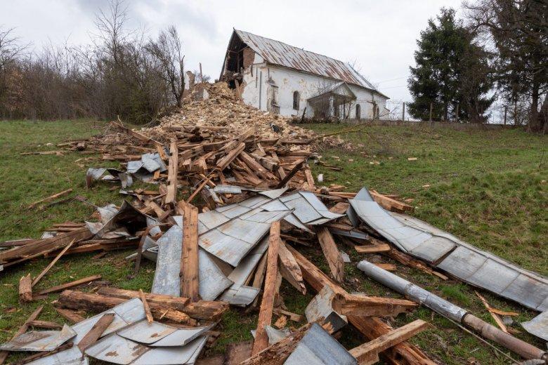 Református templom omlott össze Beszterce–Naszód megyében