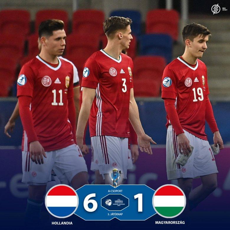 Hatot kaptak Hollandiától, pont nélkül zártak az U21-es labdarúgó EB-n a magyarok