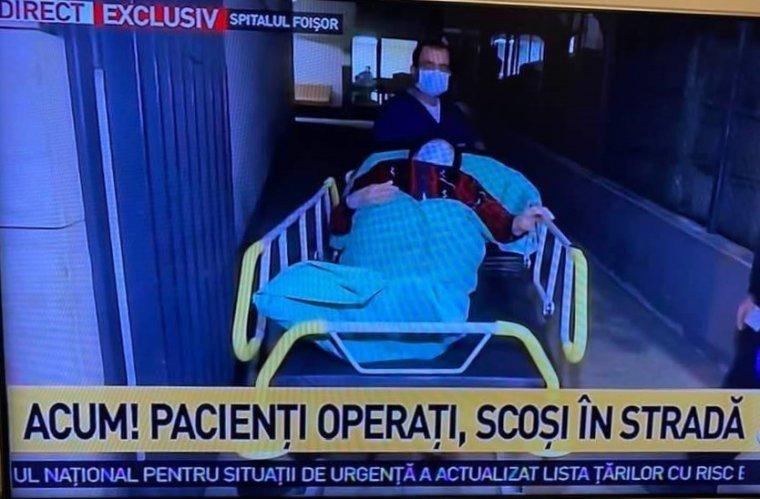 Tüntetők próbálták megakadályozni egy Covid-kórházzá átminősített bukaresti klinika kiürítését
