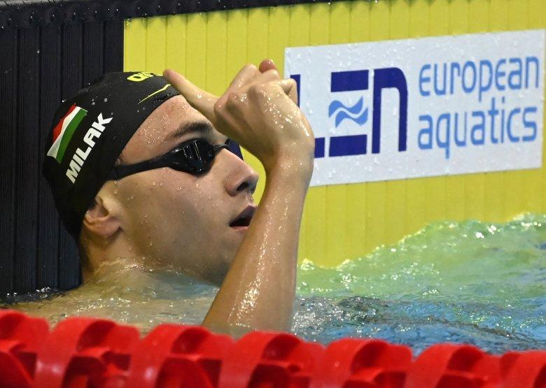 Vizes Eb: Milák Kristóf minden idők második legjobb eredményével aranyérmes 200 méter pillangón