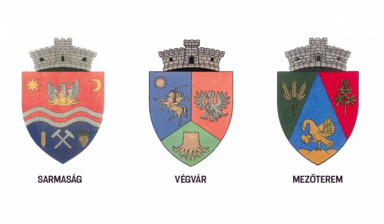 Sarmaság, Végvár és Mezőterem is új címerrel büszkélkedik a kormány döntése szerint