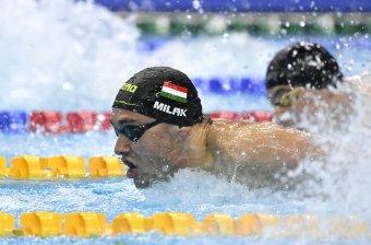 Duplázás a vizes Eb-n: Milák Kristóf férfi 100 méter pillangón is aranyérmes
