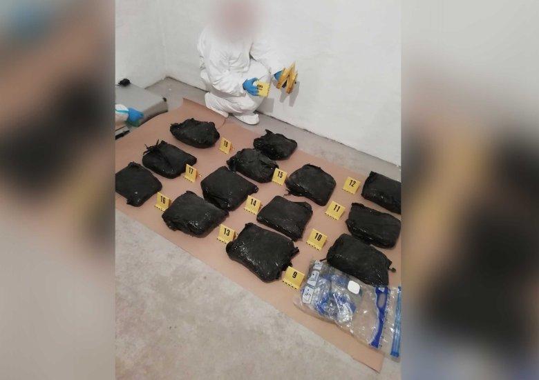 Tizenöt kiló marihuánát találtak két román állampolgárnál Magyarországon