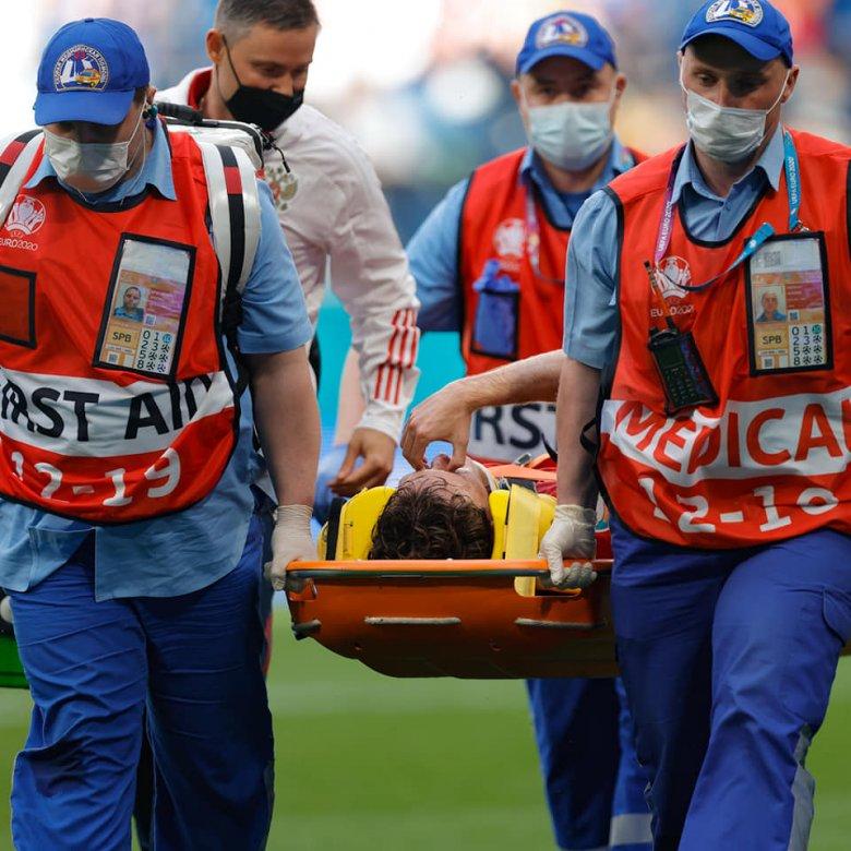 Euro 2020 – Győztek az oroszok, de brazil jobbhátvédjüket kórházba kellett szállítani