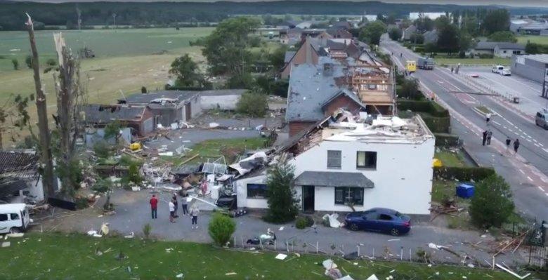Tornádó pusztított Belgiumban, többen megsérültek, nagy a kár