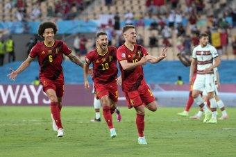 EURO-2020 – Nem védik meg a címüket Ronaldóék, Hazard a negyeddöntőbe lőtte a belgákat