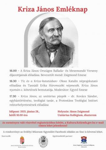 Könyvbemutatóval, ballada- és mesemondással emlékeznek Kriza János születésének 210. évfordulójára Kolozsváron