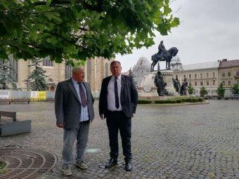Bajkai István és Lomnici Zoltán a kisebbségi jogok védelmét hangsúlyozta Kolozsvár Főterén