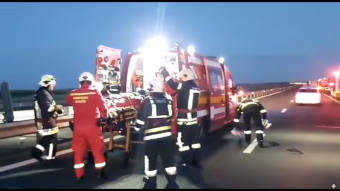Súlyos baleset történt Nagylaknál az autópályán, egy személy életét vesztette, tizenhatan megsérültek