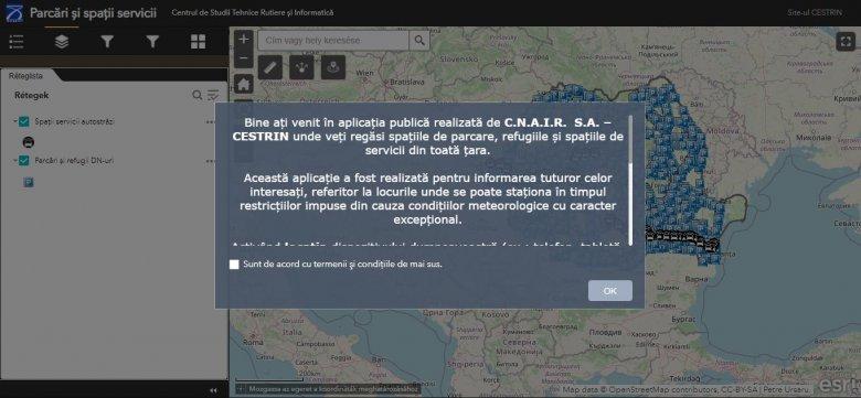 Elérhetővé tették az országúti parkolók és pihenőhelyek online térképét
