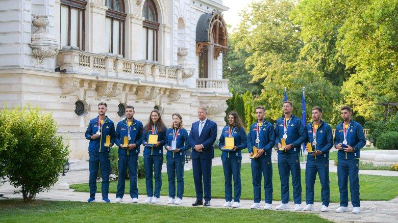 Kitüntette a legeredményesebb romániai olimpikonokat Klaus Iohannis államfő