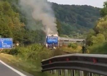 Újabb gyorsvonat mozdonya gyulladt ki, ezúttal Kolozs megyében