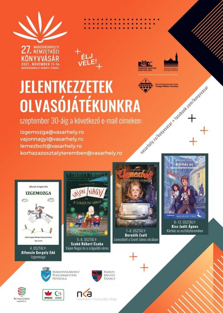 Kortárs irodalmi vetélkedő a 27. Marosvásárhelyi Nemzetközi Könyvvásáron