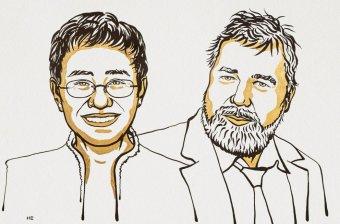 Előfeltétel a véleménynyilvánítás szabadsága: Fülöp-szigeteki és orosz újságírónak ítélték oda a Nobel-békedíjat