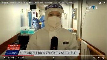 """""""Holnap beoltatnám magam, négyszer, nem kétszer"""" – Tévés riport a kolozsvári járványkórházból (VIDEÓ)"""