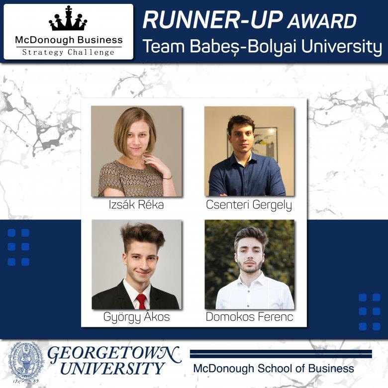 Washingtoni esettanulmány-versenyen díjazták a BBTE magyar közgazdász hallgatóit