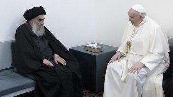 Síita vallási vezetőkkel folytatott történelmi megbeszélést Ferenc pápa