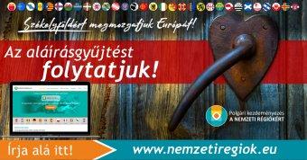 Nemzeti régiók: májusig folytatni kívánja az aláírásgyűjtést az SZNT