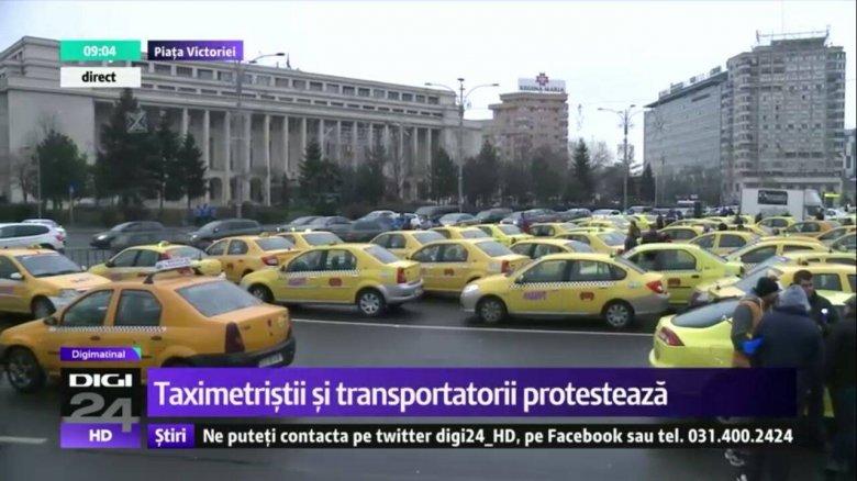 Taxisok és fuvarozók tüntettek Bukarestben, követelve az Uber betiltását
