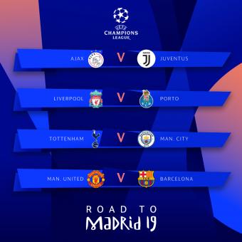 Angol rangadó és Barcelona–Manchester United-párharc a Bajnokok Ligája negyeddöntőjében