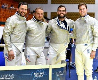 Aranyérmet harcolt ki a magyar férfi kardcsapat az újvidéki vívó Európa-bajnokságon
