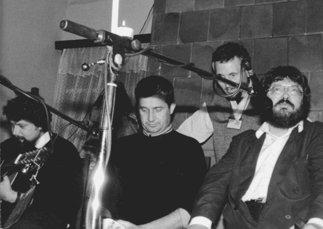 Mircea Dinescu és Szőcs Géza (1993) •  Fotó: Forrás: Pro Minoritate Alapítvány