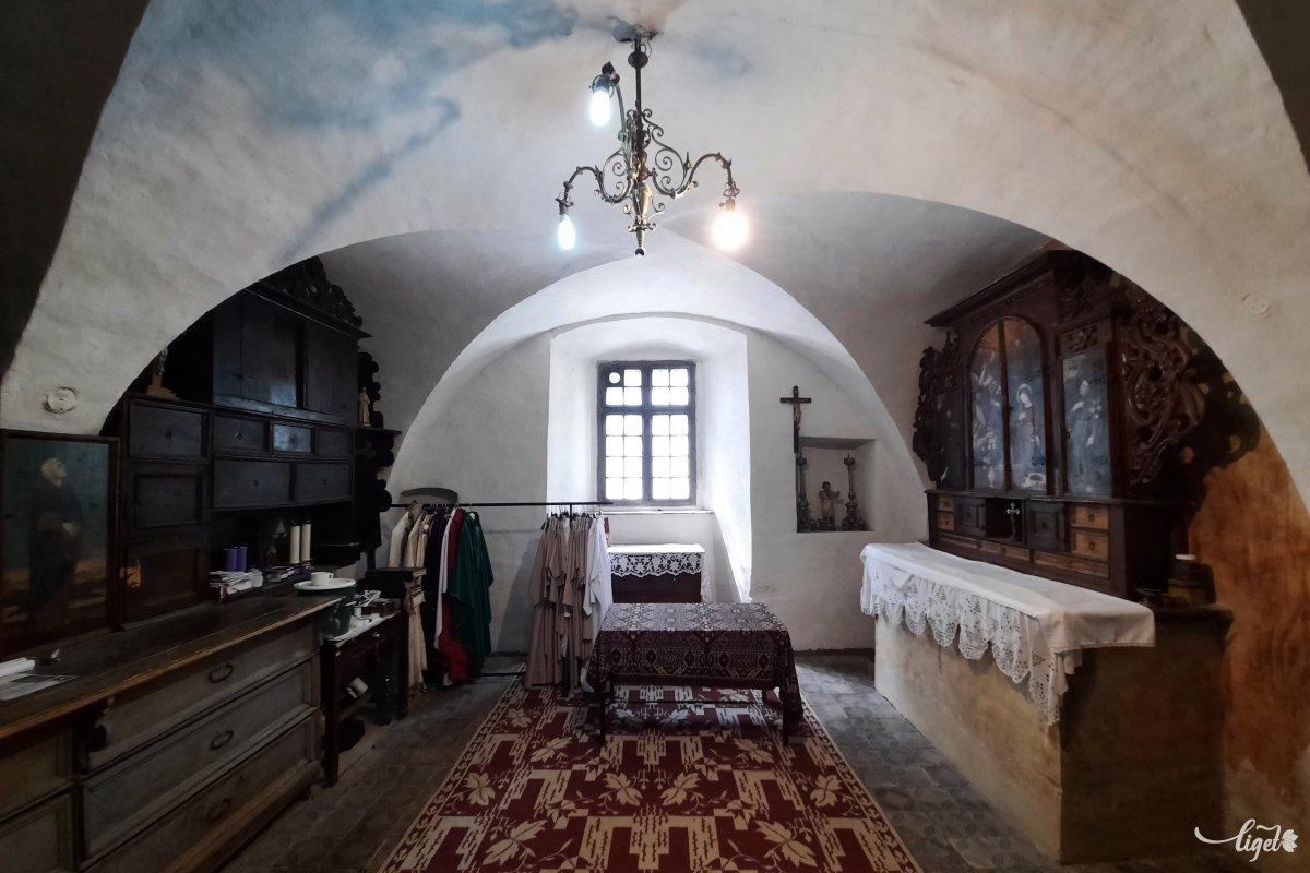 Az egykori kápolna ma a sekrestye •  Fotó: Rédai Attila