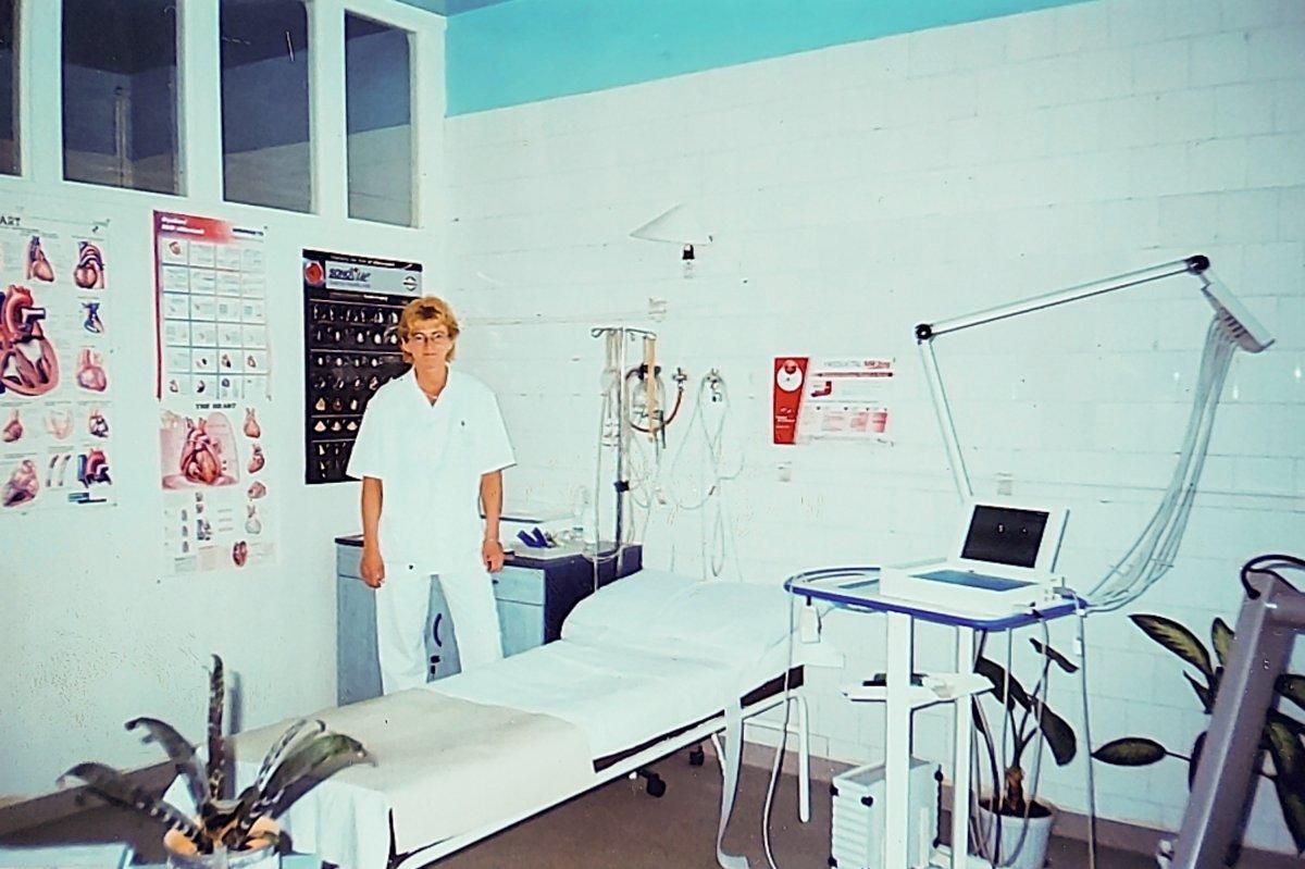 EKG-labor a kardiológián 2005-ben •  Fotó: Forrás: Amza Éva személyes archívuma