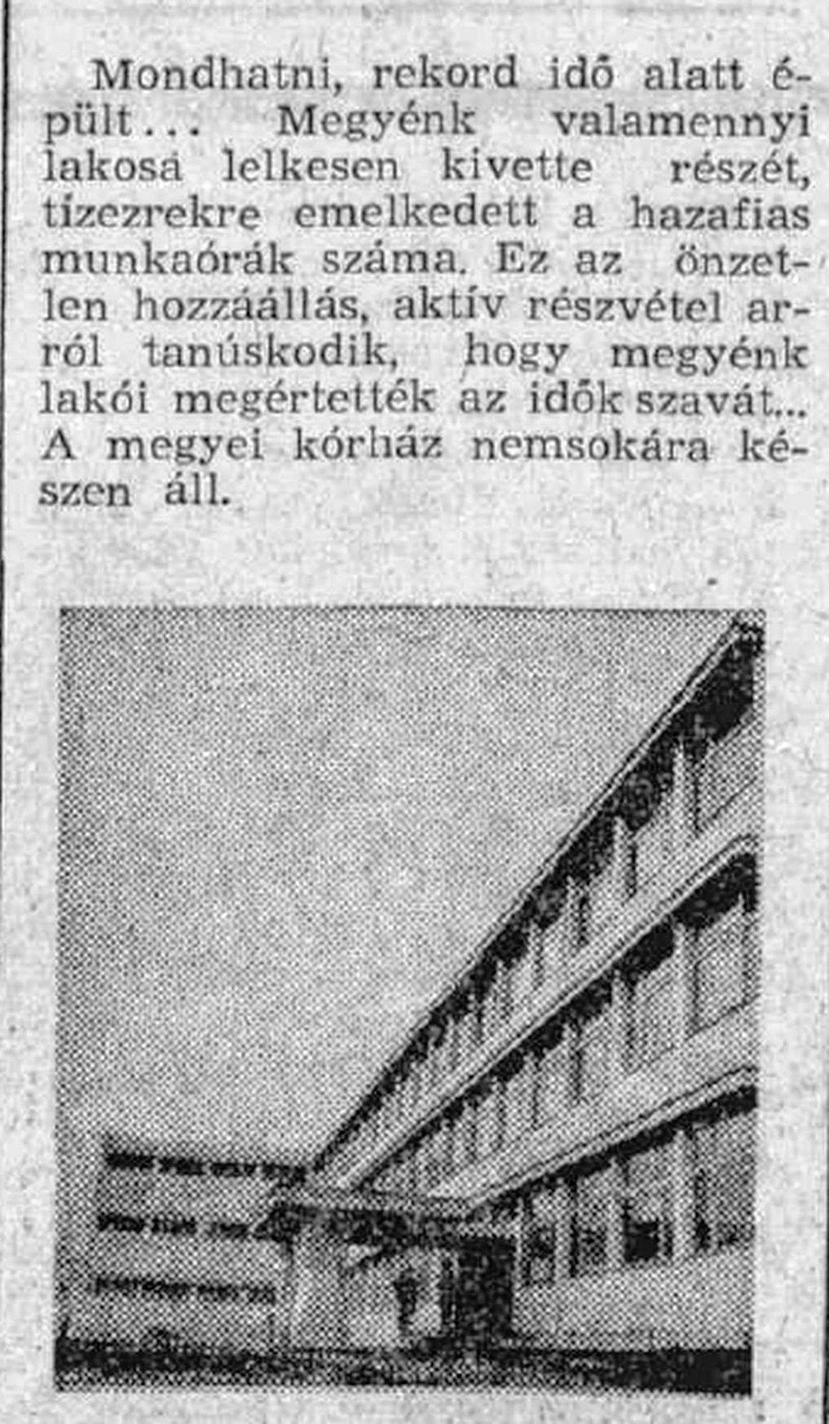 Hargita, 1971. május 1. •  Fotó: Forrás: a Csíkszeredai Megyei Sürgősségi Kórház gyűjtése