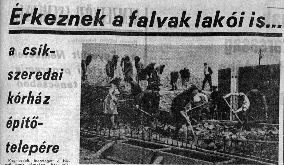 Hargita, 1970. május 16. •  Fotó: Forrás: a Csíkszeredai Megyei Sürgősségi Kórház gyűjtése